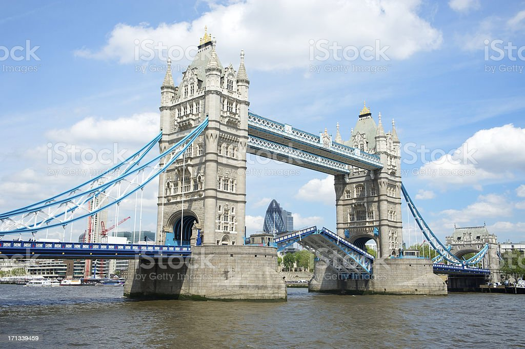 Tower Bridge London Opening Drawbridge royalty-free stock photo