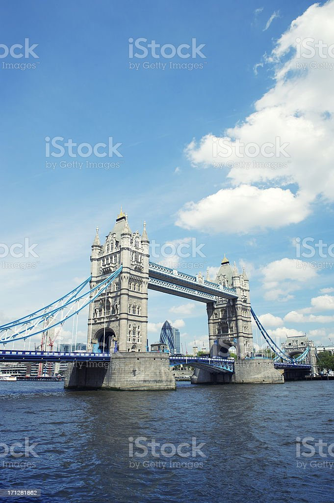 Tower Bridge London River Thames Blue Sky royalty-free stock photo