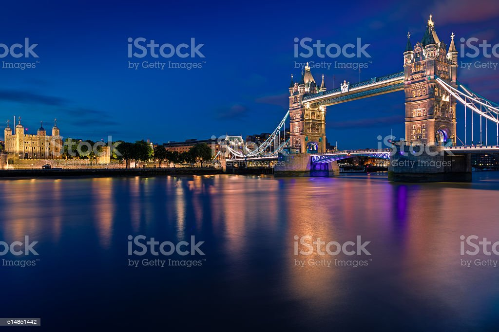 Tower Bridge London, UK stock photo