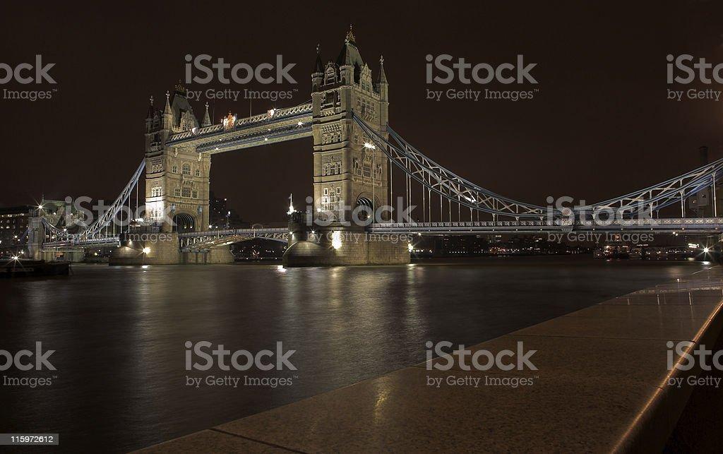 Tower Bridge night scene royalty-free stock photo