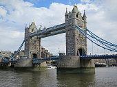 Tower Bridge on River Thames London
