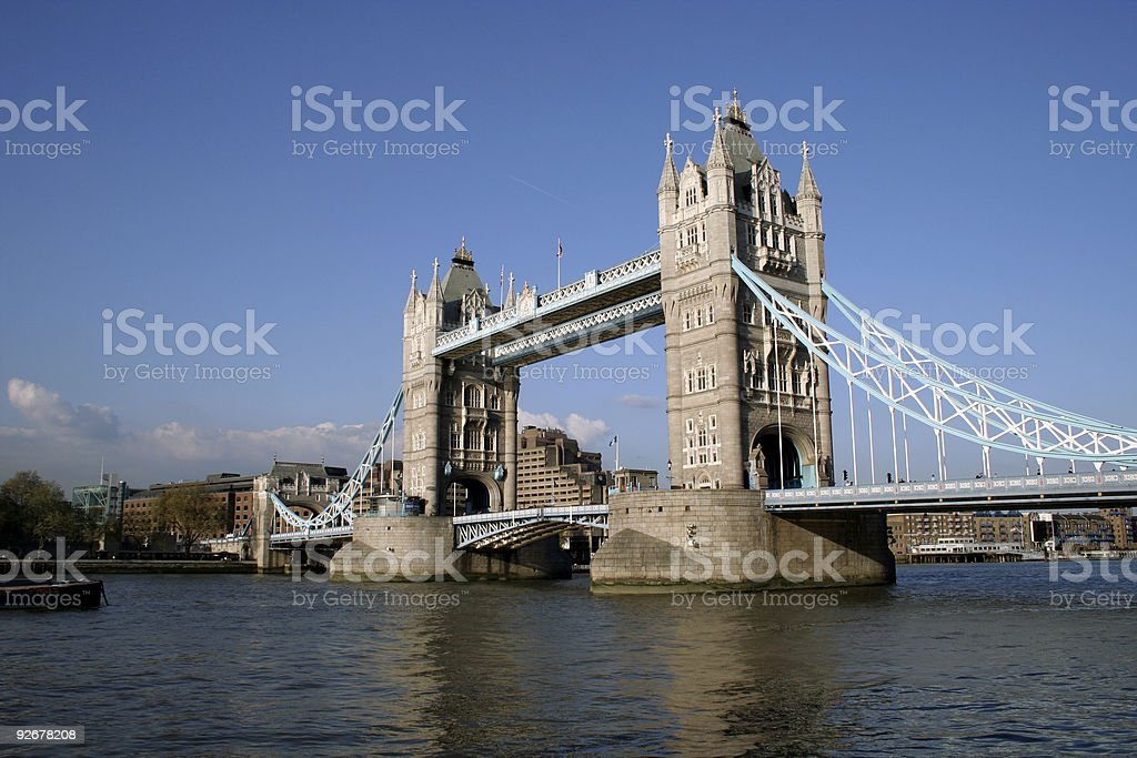 Tower Bridge on the River Thames in London royalty-free stock photo