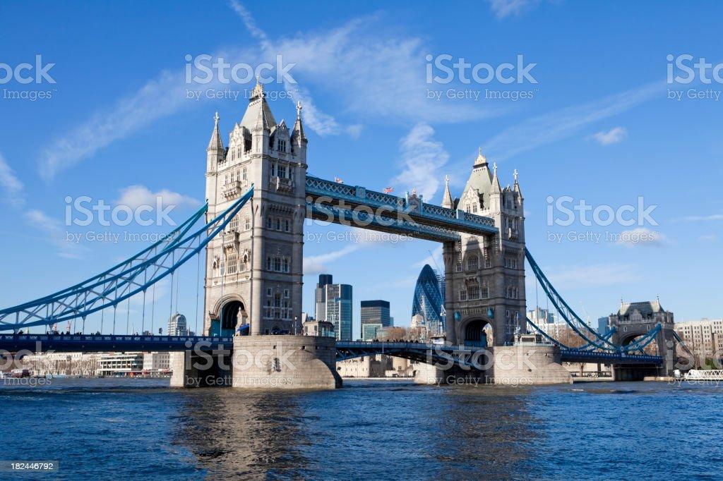 Tower Bridge over River Thames, London UK XXXL stock photo