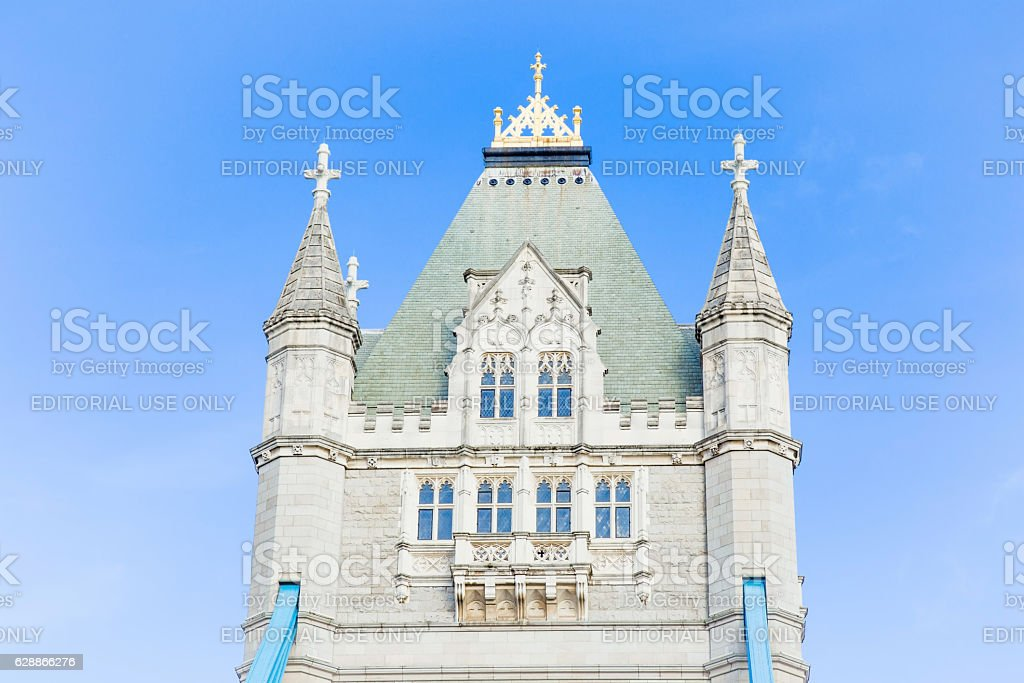 Tower Bridge over Thames river in the sunny day. stock photo