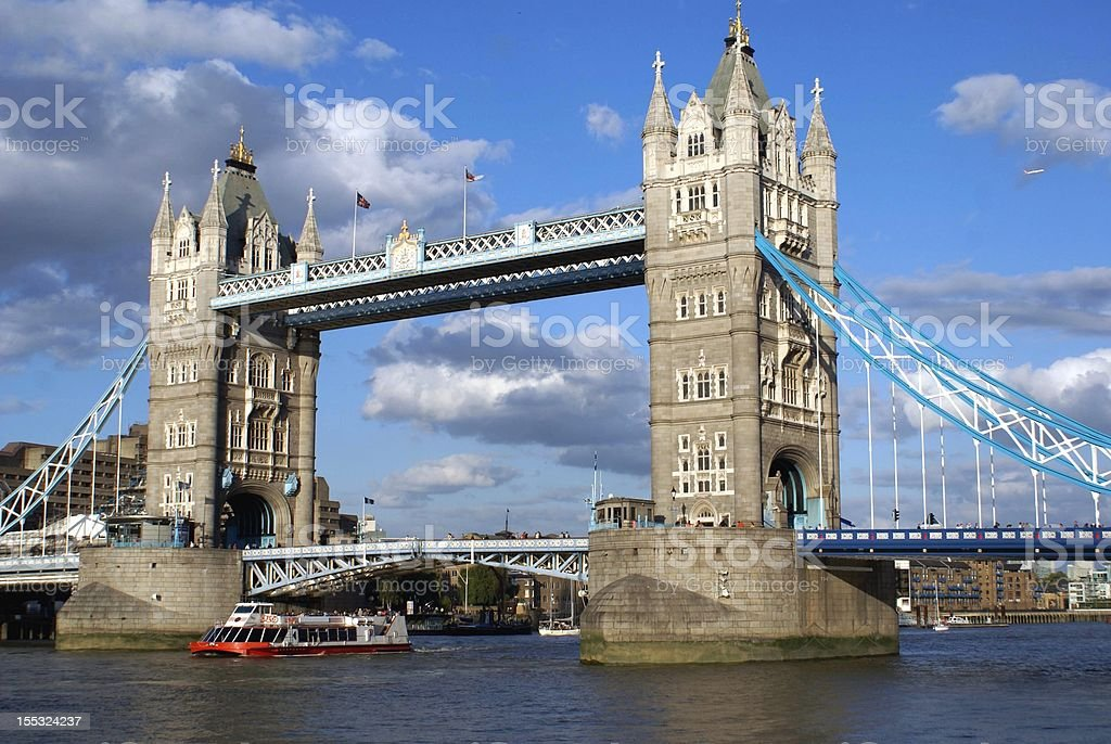 Tower Bridge over the River Thames royalty-free stock photo