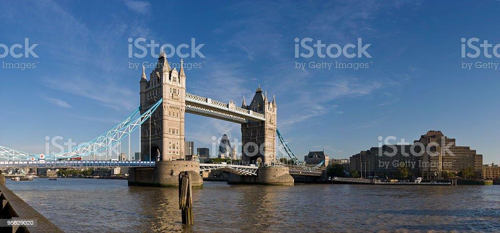 Tower bridge panorama, London royalty-free stock photo
