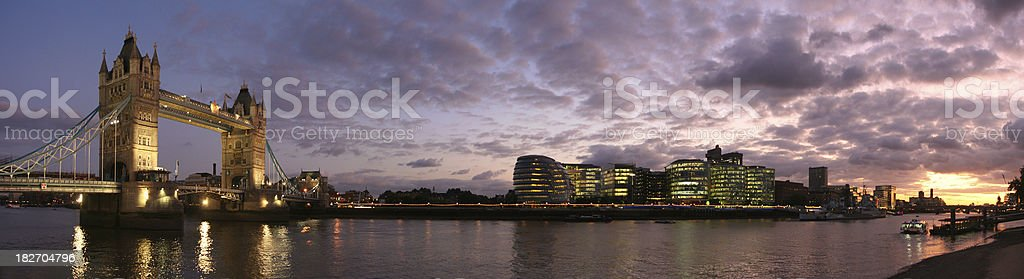 Tower Bridge panorama royalty-free stock photo