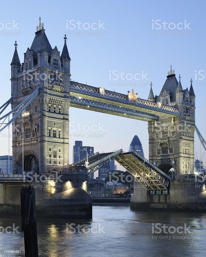 Tower Bridge Rising royalty-free stock photo