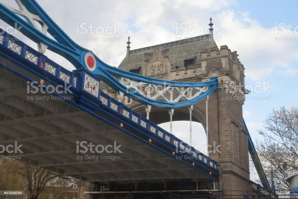 Tower Bridge view from below - London - UK stock photo