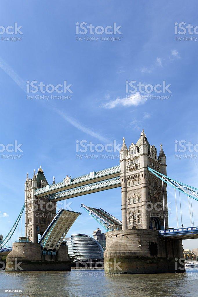 Tower Bridge with City Hall royalty-free stock photo