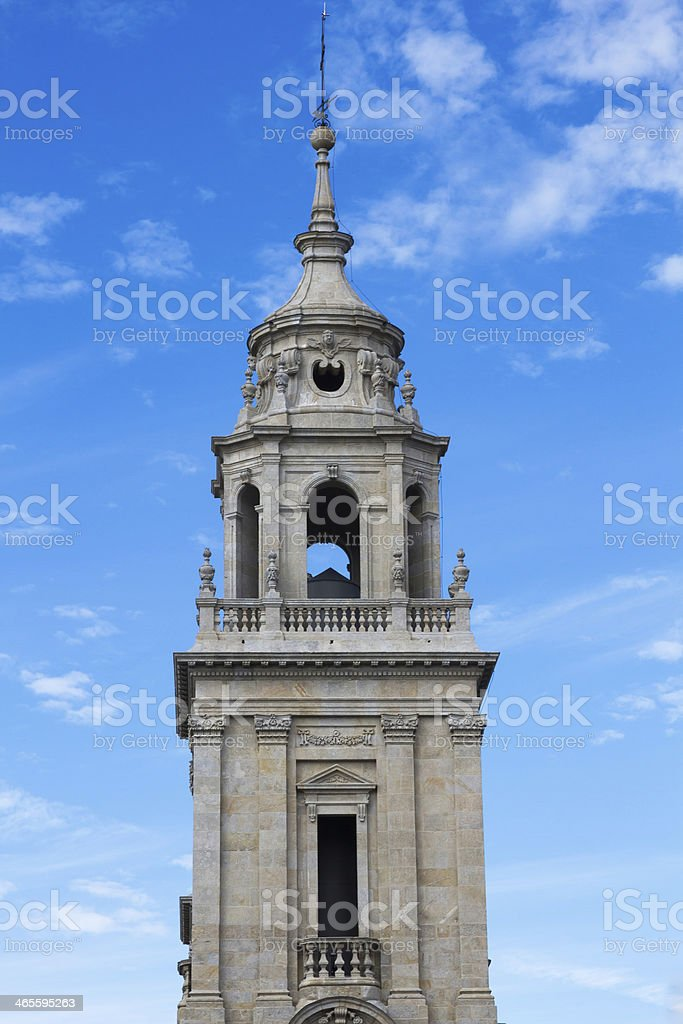 Tower Cathedral - Torre Catedral de Lugo stock photo