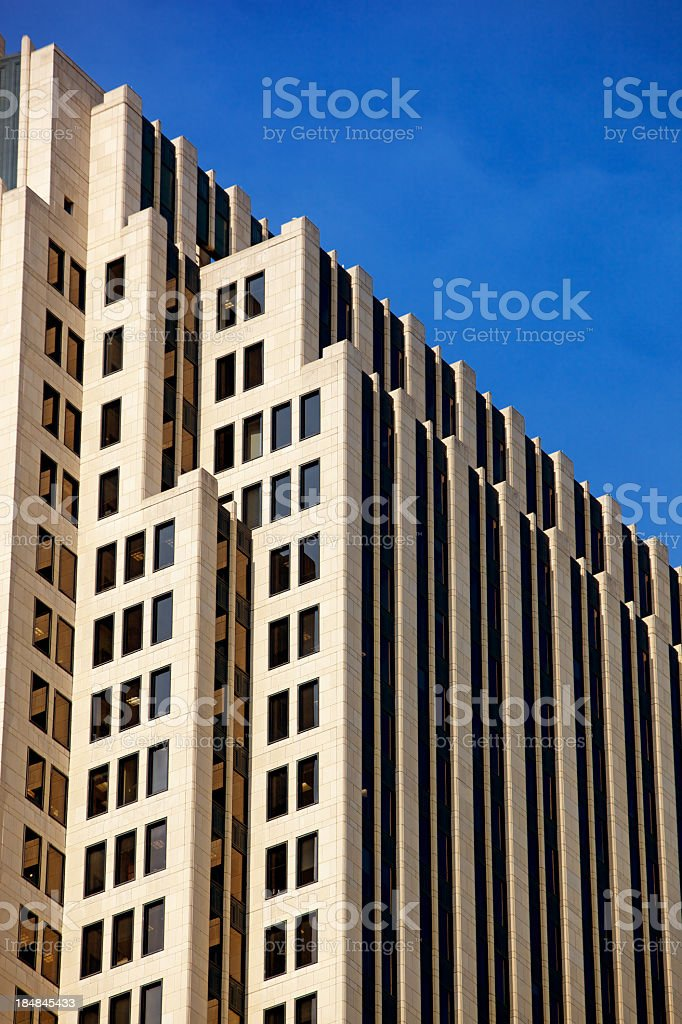 NBC Tower Chicago Close Up at 200mm stock photo