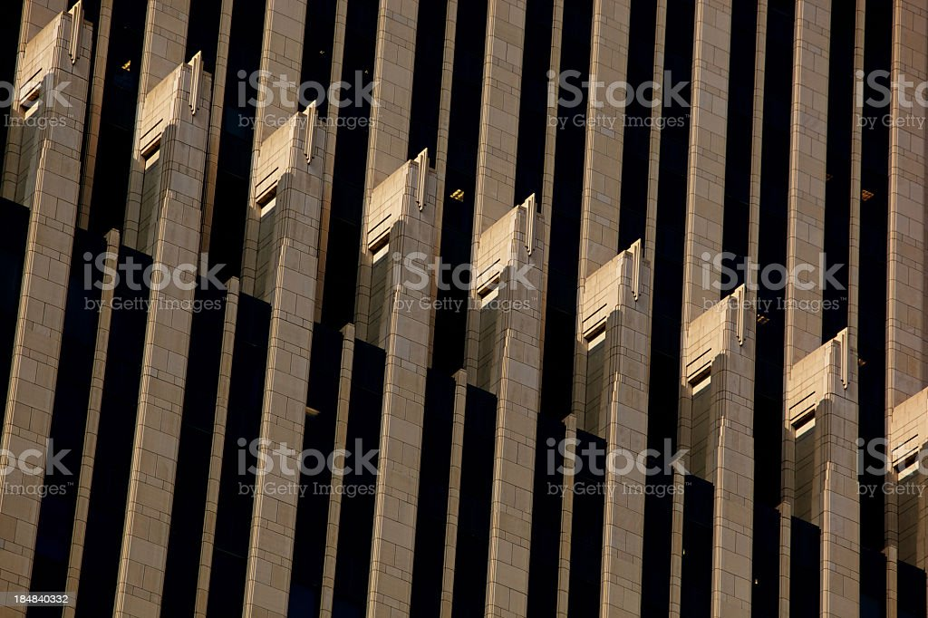 NBC Tower Chicago Close Up of Spandrels at 200mm stock photo