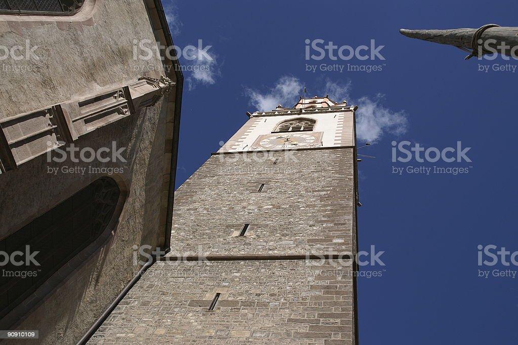 tower clock Meran 2006 1 stock photo