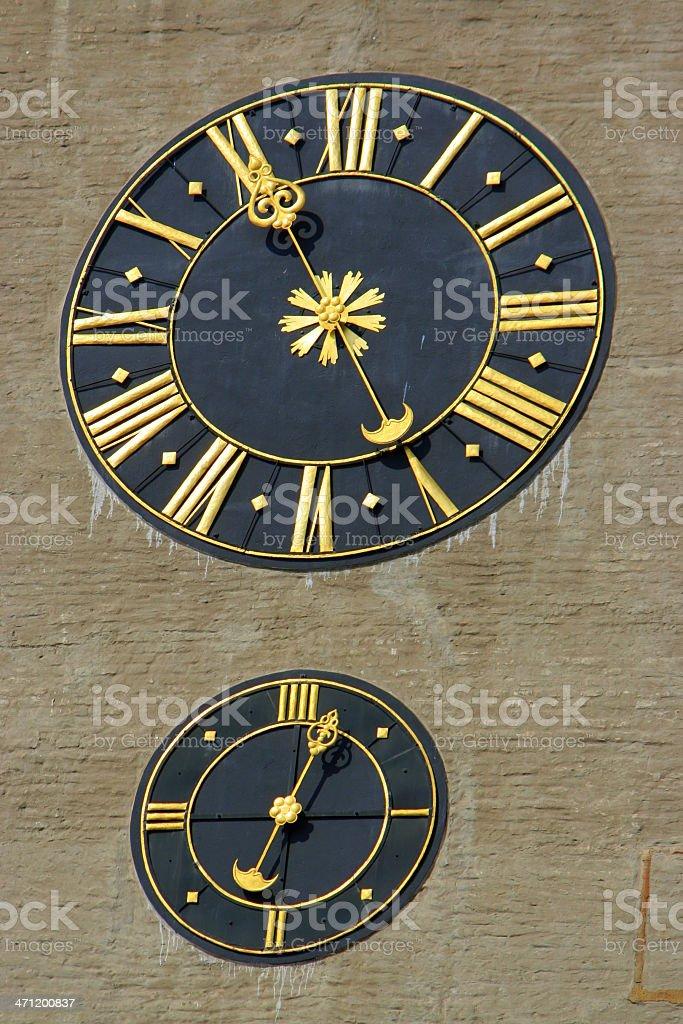 Tower Clock - Turmuhr stock photo