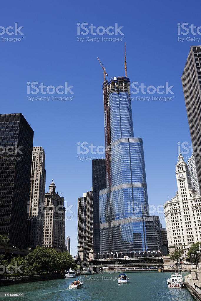 Tower Construction in Chicago royalty-free stock photo