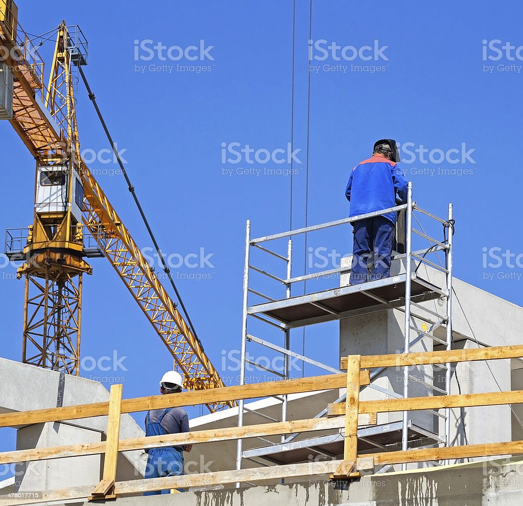 tower crane at the construction royalty-free stock photo