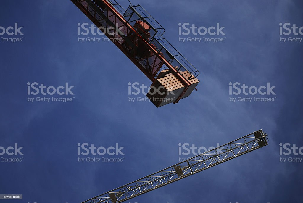 Tower Crane Counterweight royalty-free stock photo