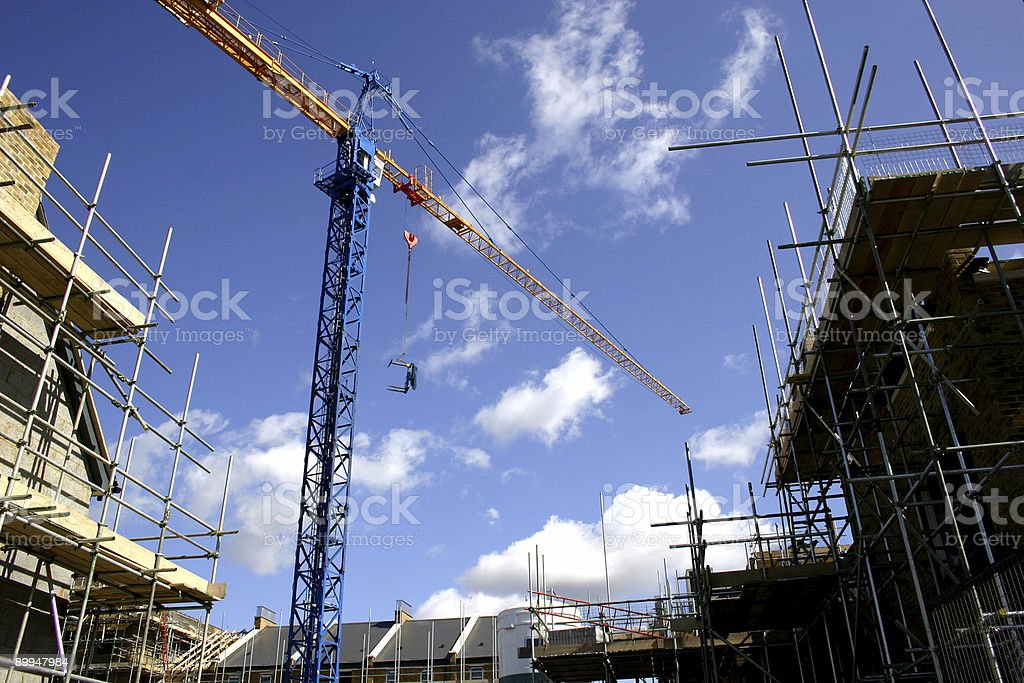 tower crane on site royalty-free stock photo