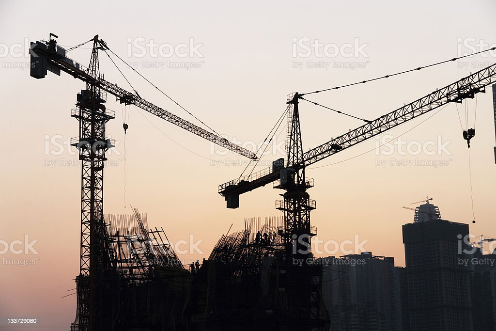 tower crane royalty-free stock photo