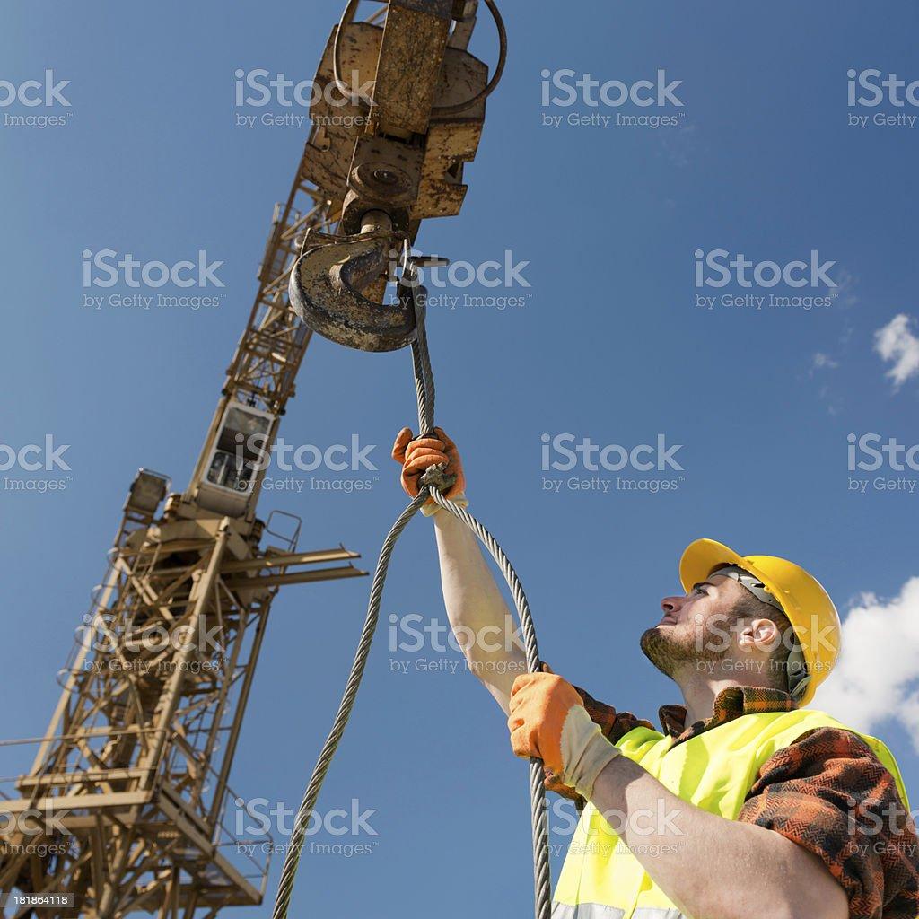Tower crane work stock photo
