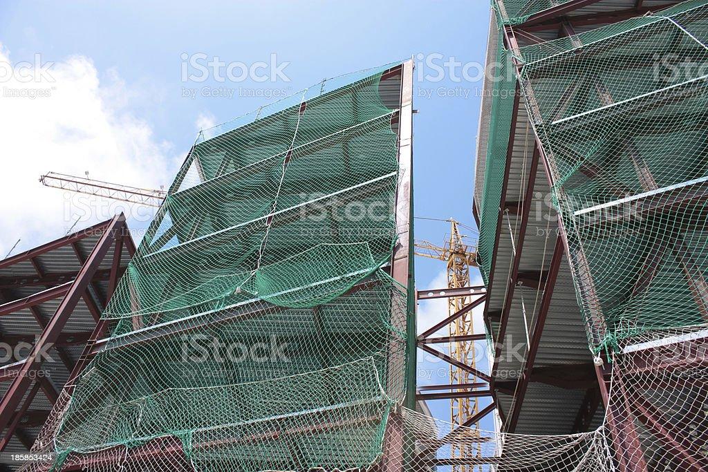 Tower crane works stock photo