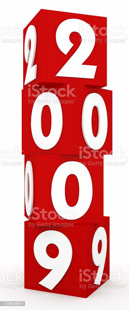 3D Tower Cubes for New Year 2009 royalty-free stock photo