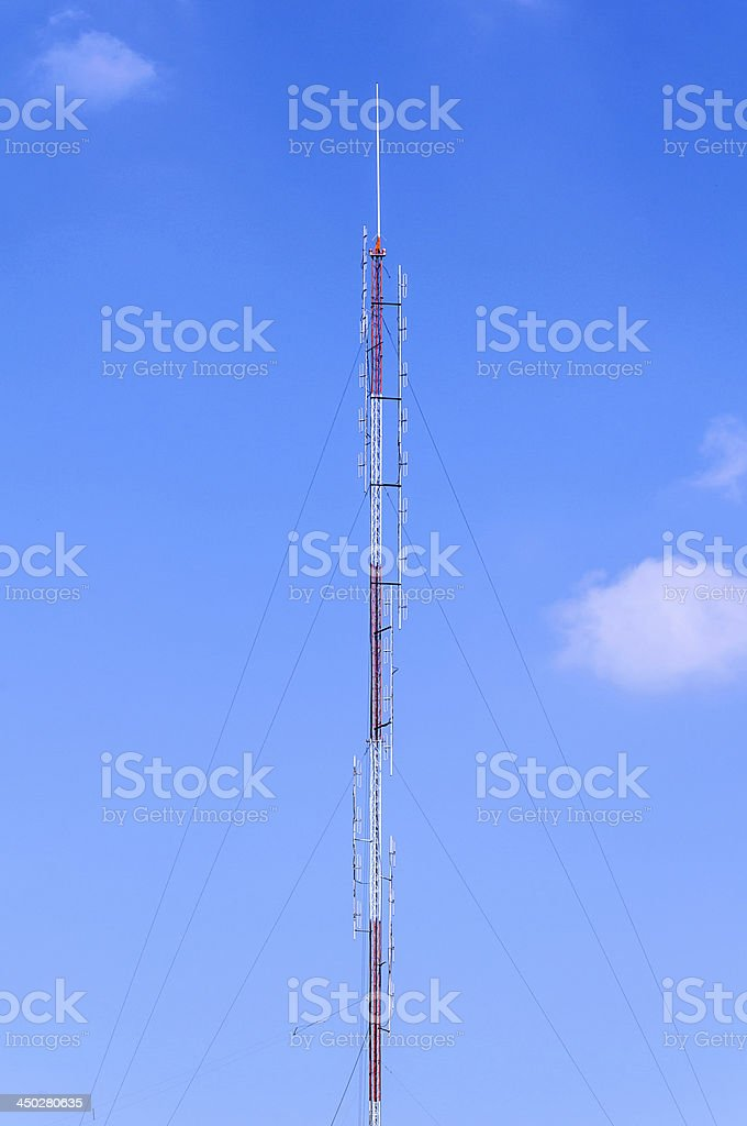 Tower for radio antenna stock photo