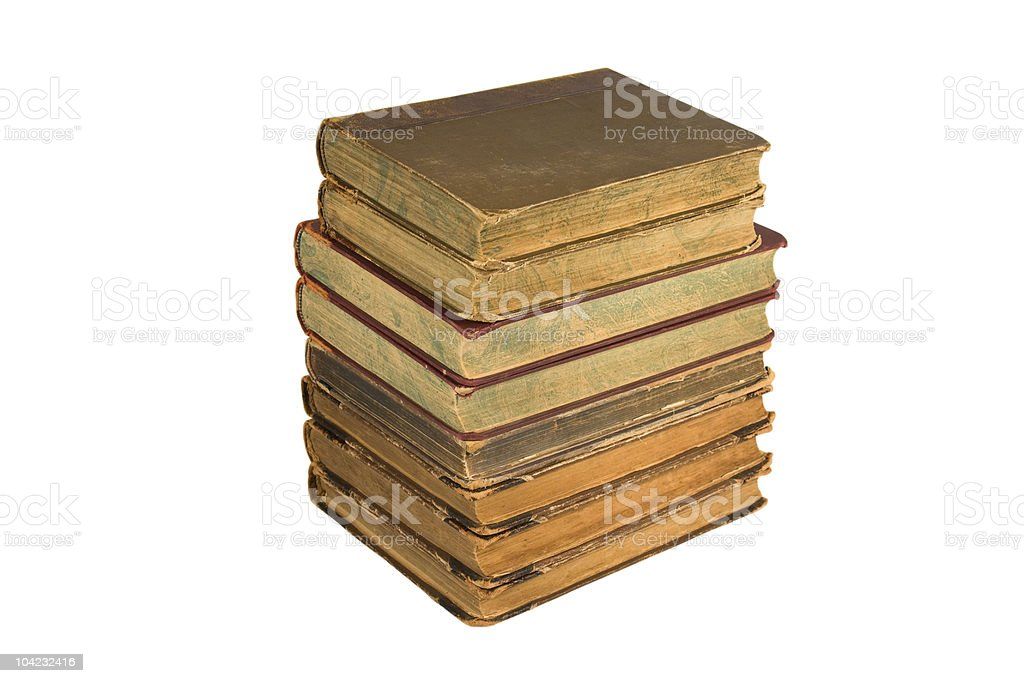 Tower from old books royalty-free stock photo