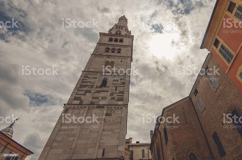 Tower Ghirlandina stock photo