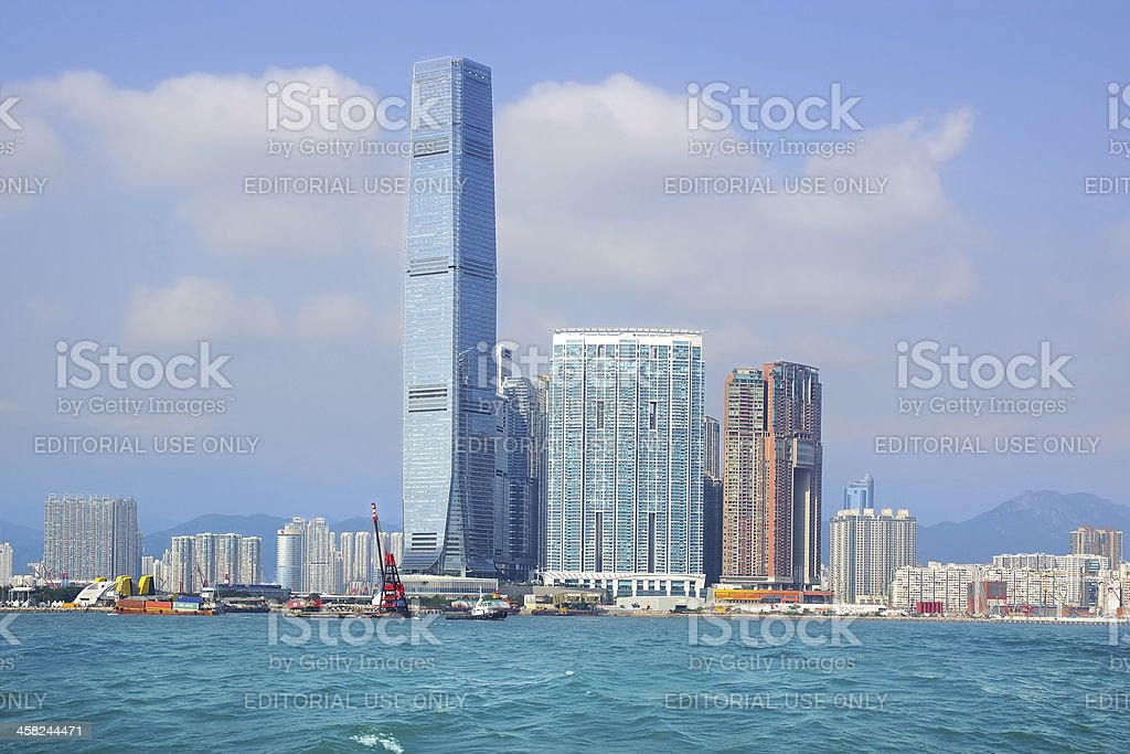 ICC Tower. Hong Kong royalty-free stock photo
