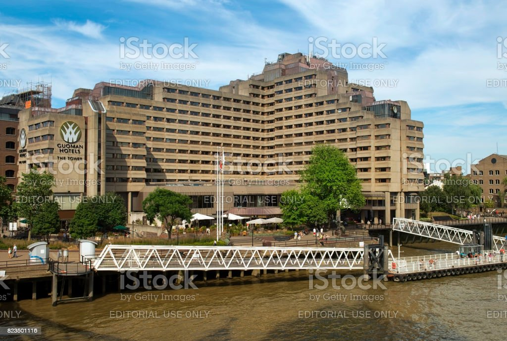 tower hotel by guoman, london stock photo