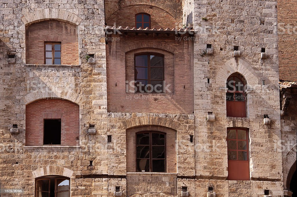Tower house in San Gimignano royalty-free stock photo