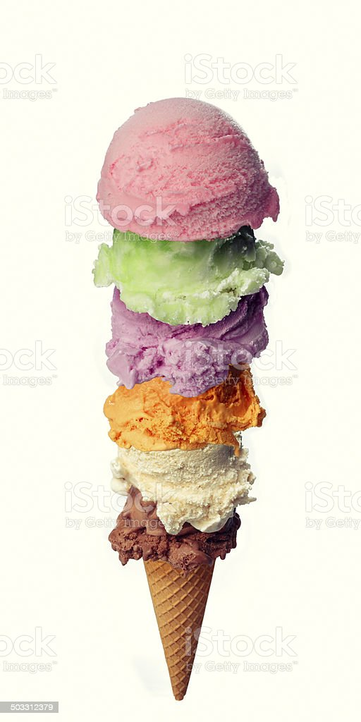 Tower ice cream stock photo