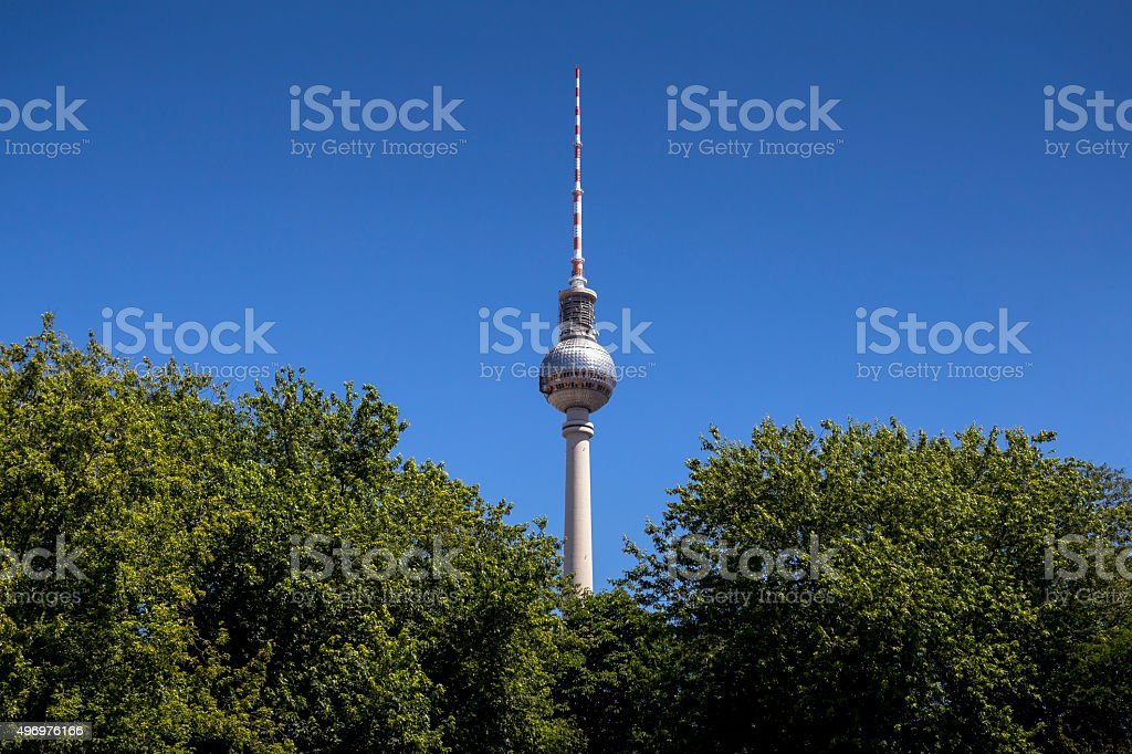 Fernsehturm (tv-tower) in Berlin, Germany stock photo