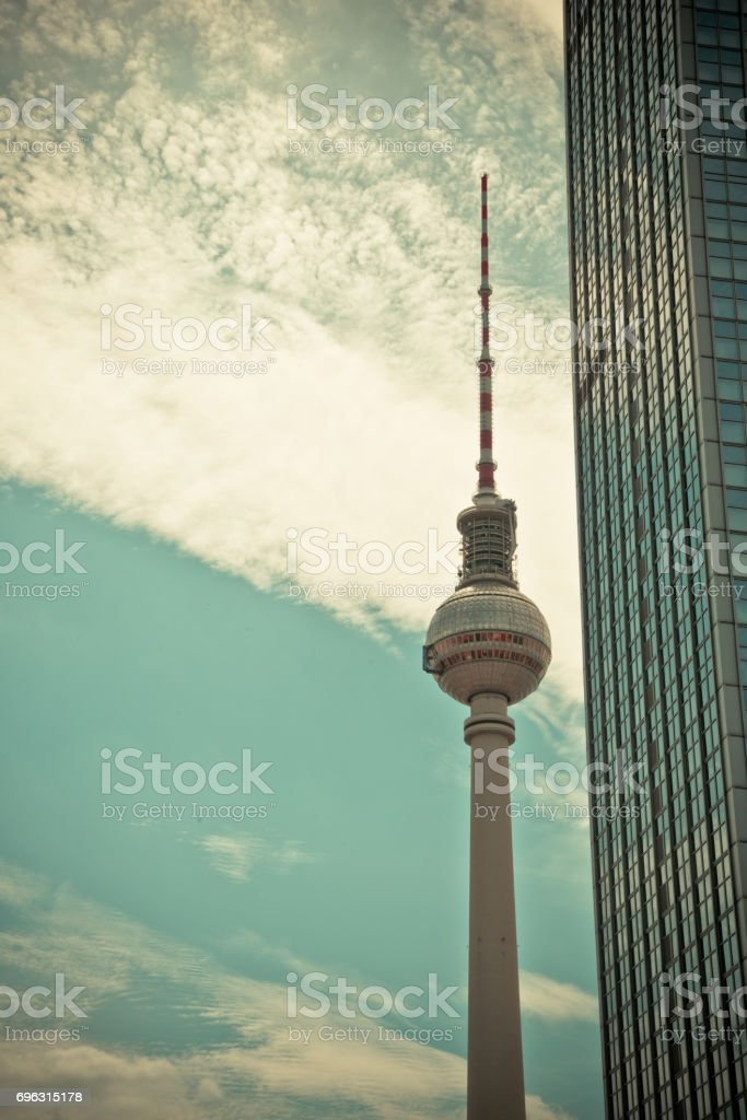 TV Tower in Berlin stock photo
