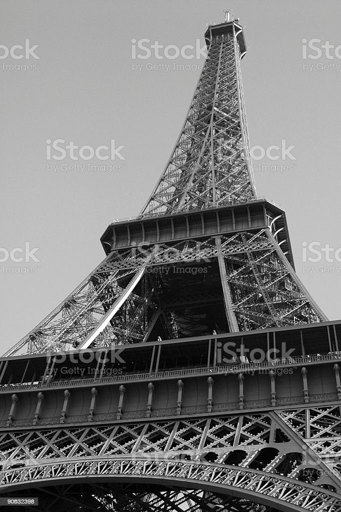 Tower in Black and White royalty-free stock photo