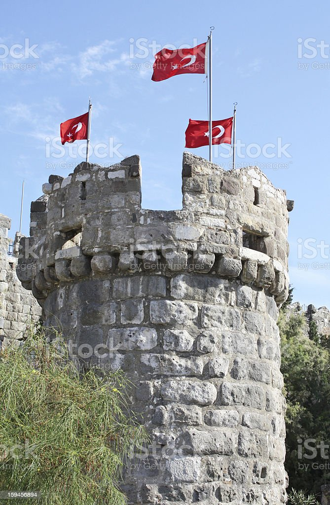 Tower in Bodrum Castle, Turkey royalty-free stock photo