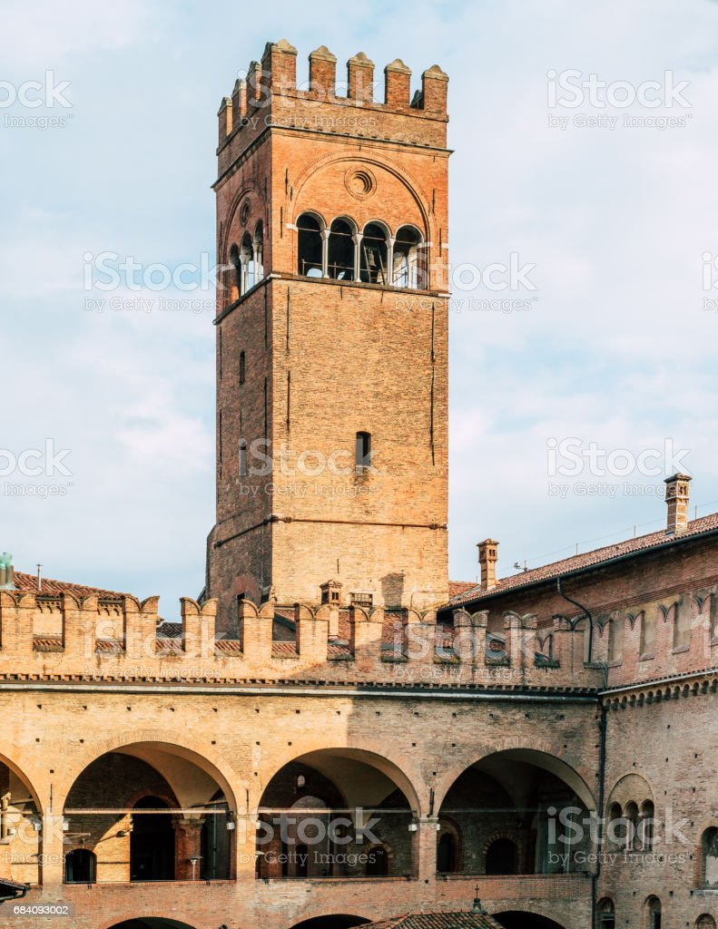 Tower in Bologna stock photo