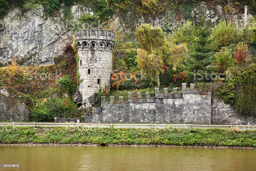 Tower in Dinant. Belgique stock photo