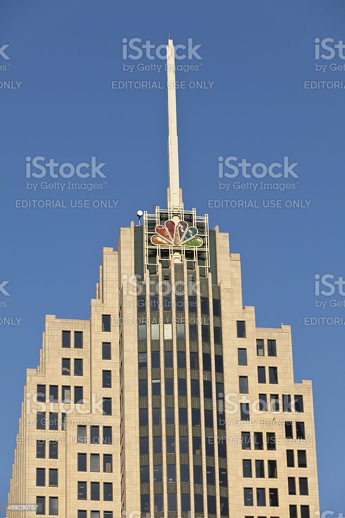 NBC Tower in downtown Chicago stock photo