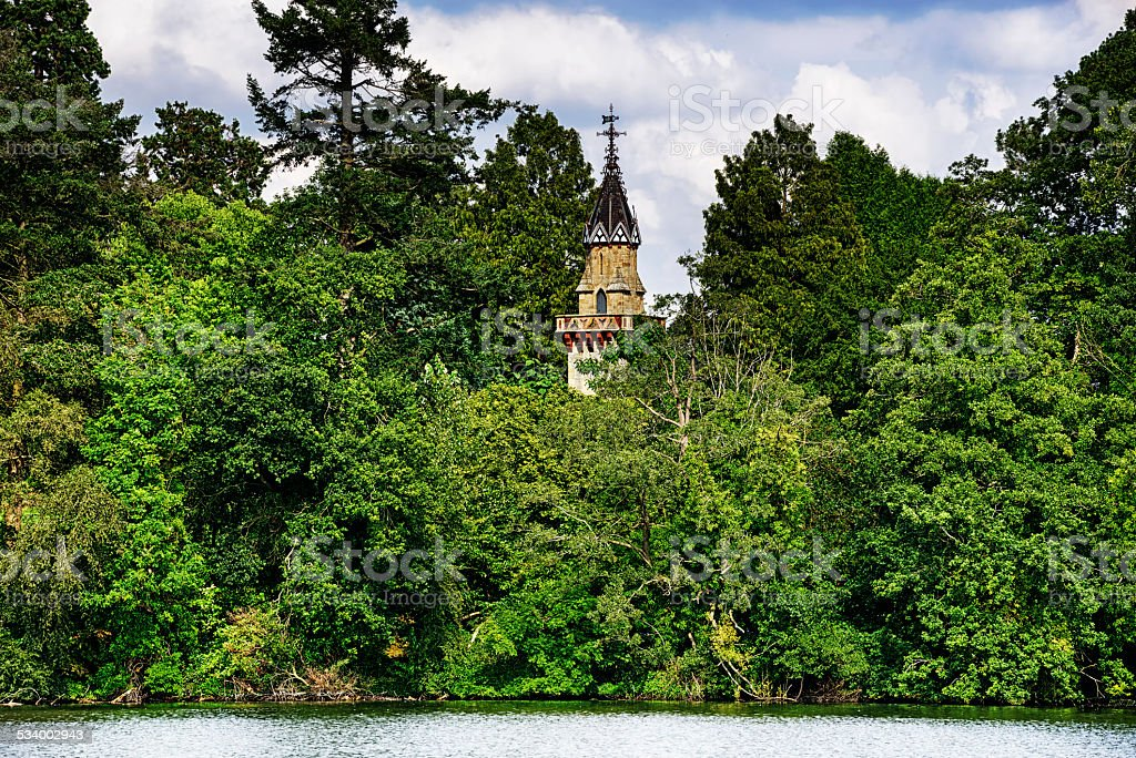 Tower in Ellesmere, Shropshire, England stock photo