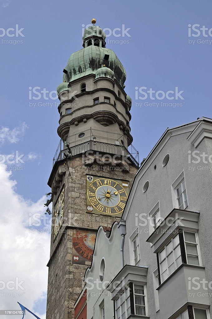 Tower in Innsbruck royalty-free stock photo