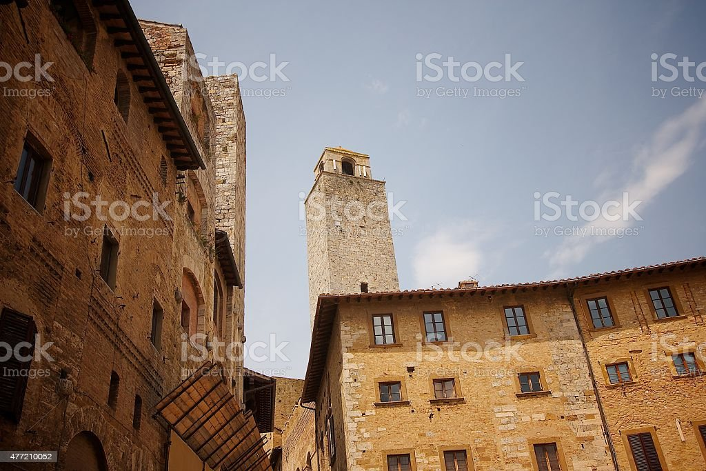 Tower in Italy stock photo