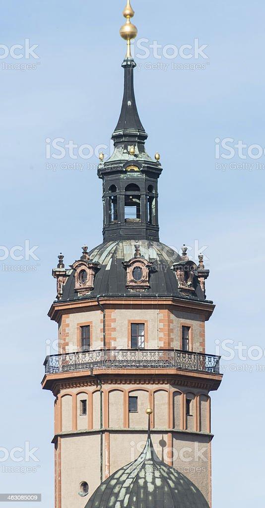tower in leipzig - Hoher Turm stock photo