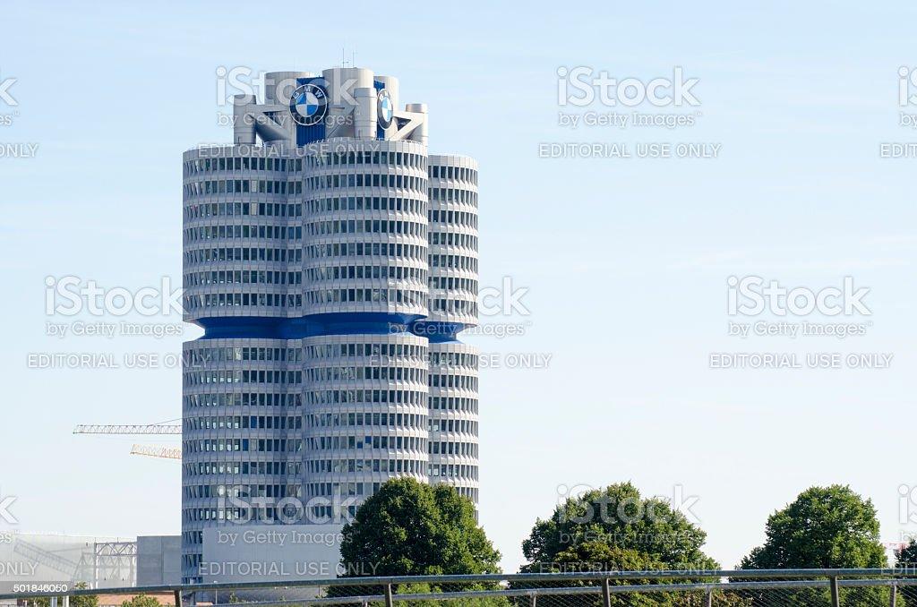 BMW tower in munich stock photo
