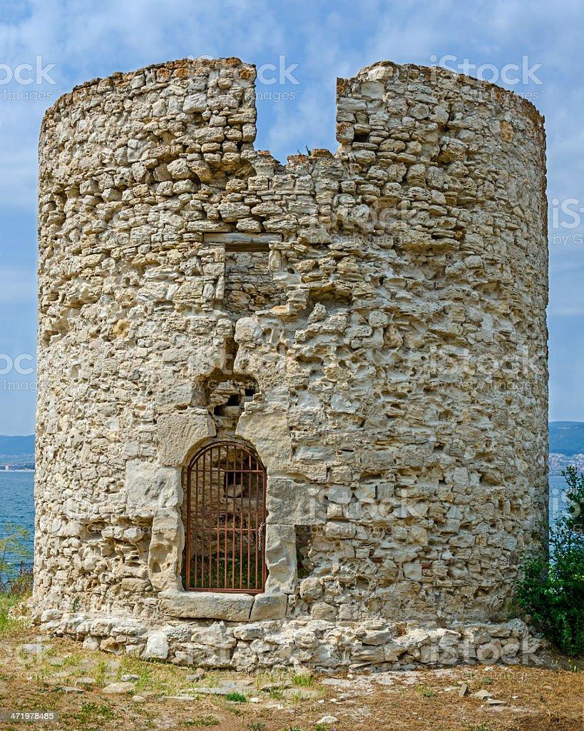 Tower in Nessebar, Bulgaria stock photo
