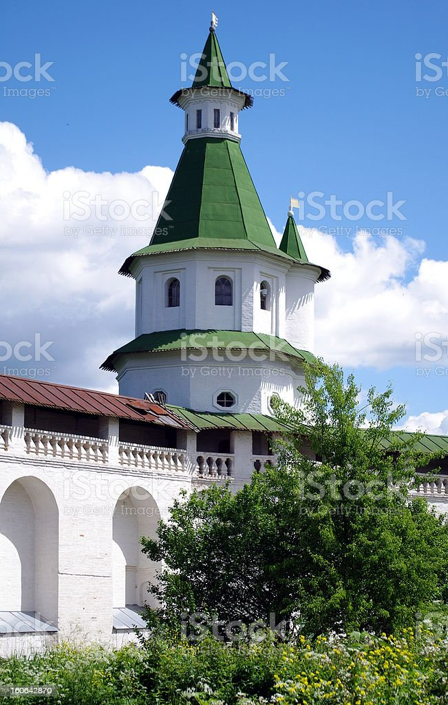 tower in New Jerusalem monastery - Russia royalty-free stock photo