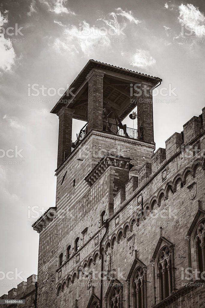 Tower in Perugia royalty-free stock photo