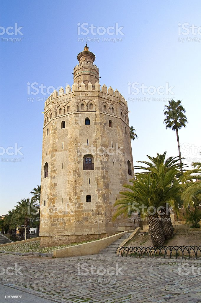 Tower in Sevilla royalty-free stock photo